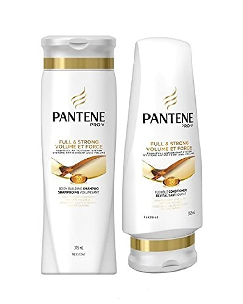 Pantene Pro-V Shampoo & Conditioner Set, Full & Strong Body Building, 12 Ounce Each