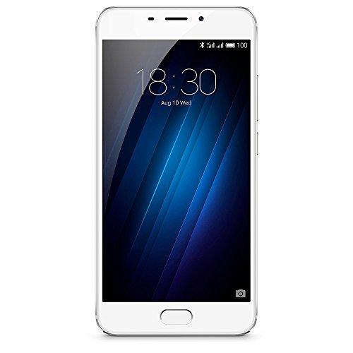Meizu a680h 32G Silver m3e Smartphone, 13MP cámara Principal, Android 6.0Plata/Blanco