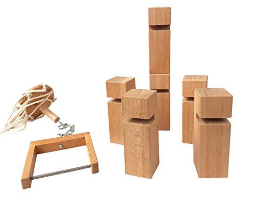 Fröbelturm Buchenholz Karton Mitspieler