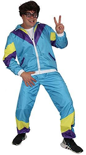 Bad Taste babyblauer 80er Jahre Kostüm Jogginganzug für Herren - Größe S-XXXXL - Trainingsanzug Fasching Karneval, Größe:L
