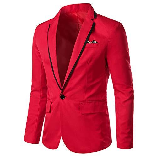 STRIR Chaqueta Casual para Hombre Slim Fit Blazer Chaquetas de Traje Formal de Negocios Un botón de un Solo Pecho Chaqueta de Esmoquin Chaqueta Negocios Elegante