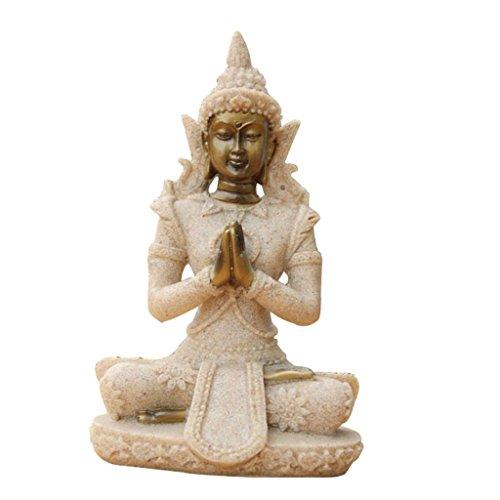 La Decoración Figurilla De Tonalidad De La Piedra Arenisca De Buda Escultura Estatua Tallada A Mano