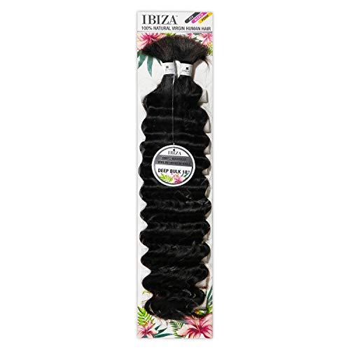 Ibiza 100% Natural Virgin Human Hair Braid - DEEP BULK 18' (NATURAL)