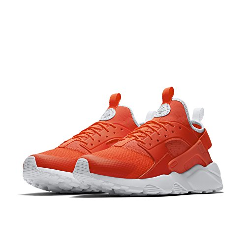 NIKE Men's Air Huarache Run Ultra Bright Crimson/Pale Grey White Running Shoe 12 Men US
