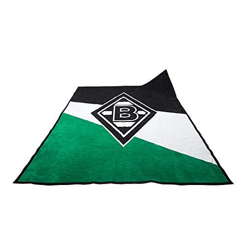 Borussia Mönchengladbach Veloursdecke Schrägstreifen