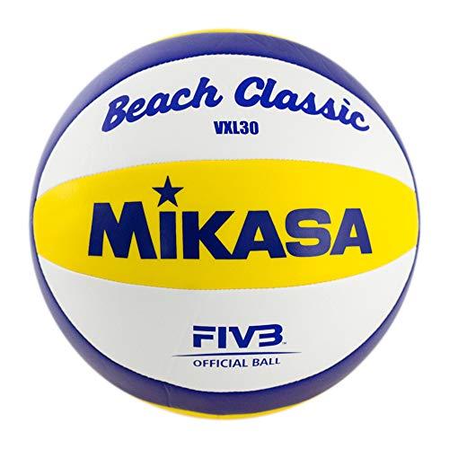 MIKASA Beach Classic Vxl30, PALLAVOLO Unisex Adulto, Blu/Giallo/Bianco, 5