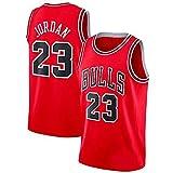 YCQQ Jersey Baloncesto Masculino, Chicago Bulls # 23 Michael Jordan Jersey de Jersey Bulls Masculino Campeón de la NBA Vintage, Chaleco De Gimnasia, Camiseta Deportiva(Size:L,Color:G2)