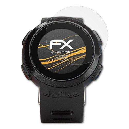 atFoliX Panzerfolie kompatibel mit Magellan Echo Watch Schutzfolie, entspiegelnde und stoßdämpfende FX Folie (3X)
