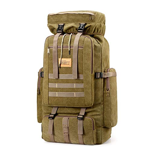 WOSHUAI Tactical Backpack Army Assault Pack Molle Rucksacks Outdoor Bag Hiking Backpacks for Camping Travel,Khaki