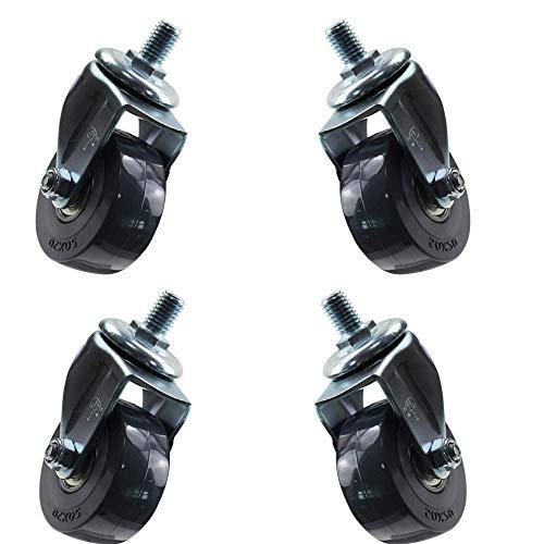 BJYG Hyfeng Furniture Swivel Casters Rad, Bremsrolle, Polyurethan Räder X 4, für Blumenständer Trolley Schuhregal (Schraube M8 / M12 X 15 mm) Last 300 Ibs