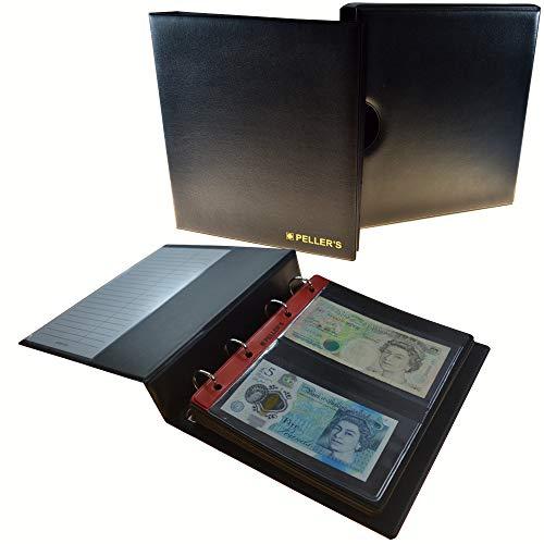 PELLER'S   Sammelalbum mit Schutzkassette für 20 Banknoten: 10 Säure- und weichmacherfreie Hüllen, Felder 143 x 80mm. Banknotenalbum M.