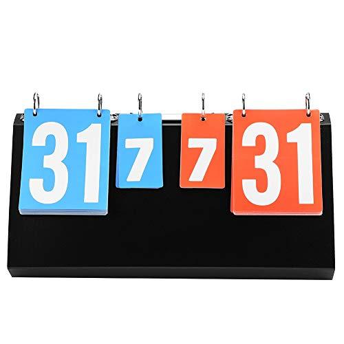 【2021 Neujahrsangebot】Taidda- Sportanzeigetafel, 4-Digital Multi Portable Tischflipper bis zu 99
