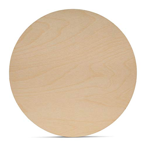 Wood Plywood Circles 16 inch, 1/8 Inch Thick, Round Wood Cutouts, Pack of 5 Baltic Birch Unfinished Wood Plywood Circles for Crafts, by Woodpeckers