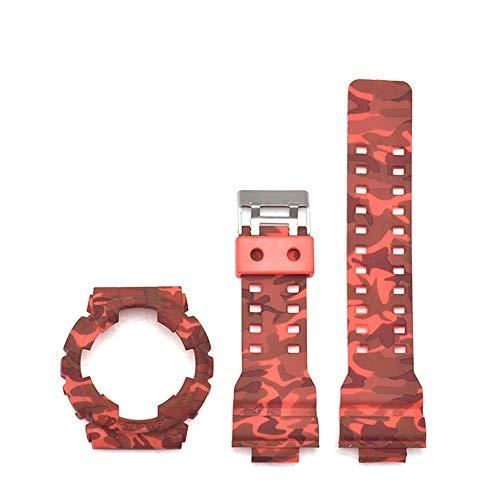 Shieranlee 16mm Correa Compatible con Casio G-Shock GA-110 GA-100 GD-100 Men Sports Waterproof Replacement Bracelet Band Strap