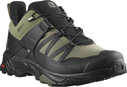 Salomon Men's X Ultra 4 Wide GTX Hiking Shoe, Deep Lichen Green/Black/Olive Night, 11.5