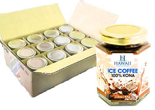 Hawaii Selection(ハワイセレクション) 100%コナ インスタント コーヒー (アイスコーヒー用) 瓶 43g×12個