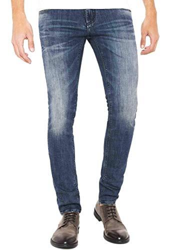 Lee Rider Vaqueros Slim, Azul (Blue Waters CP), W32/L30 para Hombre