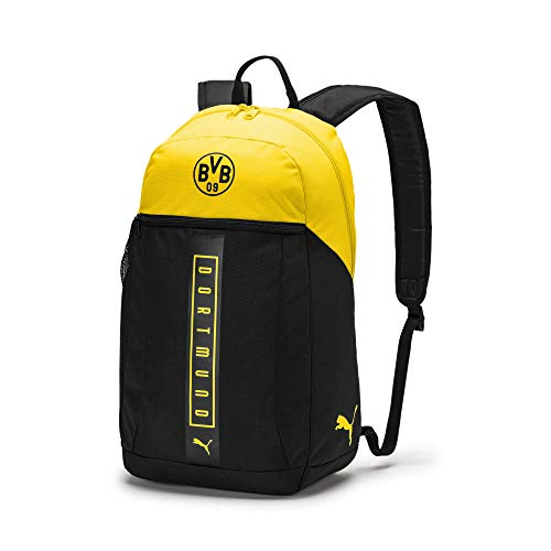 PUMA Rucksack BVB Fan Backpack, Puma Black-Cyber Yellow, UA, 75976