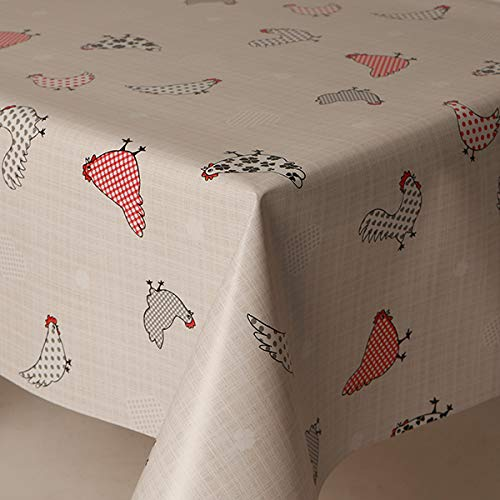 Poppy Flowers 100cm x 140cm Rectangle HOME-EXPRESSIONS Spring Pvc Wipe Clean Vinyl Table Cloth//Protector Textile Backing White Ground with Butterflies Lavender Ladybirds Bees Dragon Flys