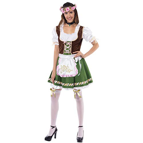 Spooktacular Creations Women's German Oktoberfest Costume Set with Rose Headband for Halloween Dress Up Party and Beer Festival (Large)