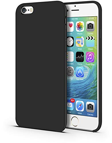 "CellEver iPhone 6 Plus / 6s Plus Case, Liquid Guard Silicone Rubber Shockproof Case with Soft Microfiber Cloth Cushion for Apple iPhone 6 Plus / 6S Plus 5.5"" (Black)"
