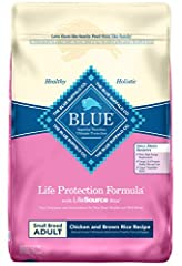 REAL MEAT FIRST: Blue Buffalo foods always feature real meat as the first ingredient. High-quality protein from real chicken helps your dog build and maintain healthy muscles. Plus they contain wholesome whole grains, garden veggies and fruit. SMALL ...