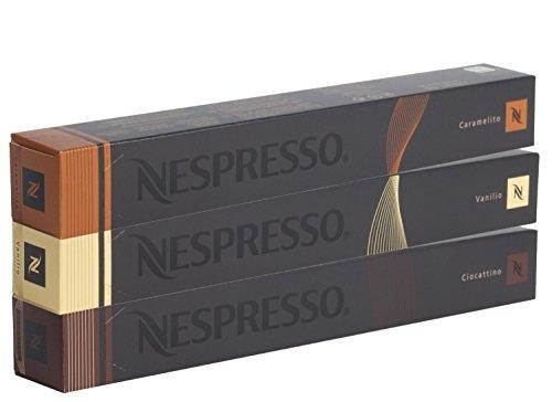Nespresso Kapseln - Vanille Kakao Karamell Sortiment 30 Kapseln - 3 Sorten