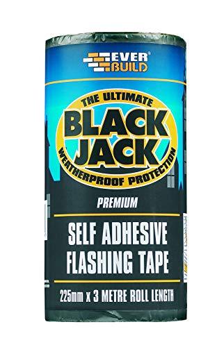 Everbuild EVBFLAS075 75 mm x 10 m, Black Jack Flash Trade glue_p Befestigung, schwarz, EVBFLAS225