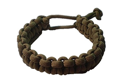 Mad Max Adjustable Paracord Survival Bracelet Tom Hardy Fury Road Coyote Brown (8-8 1/2 inch)