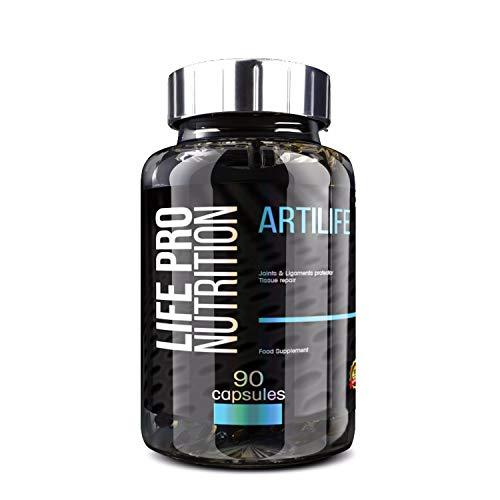 Life Pro Artilife 90 Cápsulas | Suplemento Mejora Salud Articular, Protege Articulaciones, Evita Molestias y Lesiones, Beneficios Antiinflamatorios, con Vitamina C, Condroitina, MSN y Glucosamina