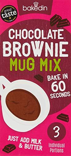 Bakedin Chocolate Mug Brownie Mix, 165g - (Pack of 3X 55g portions) - Top...