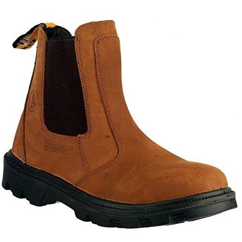 Amblers Safety FS131 Mens Safety Chelsea Dealer Boots Brown UK 11