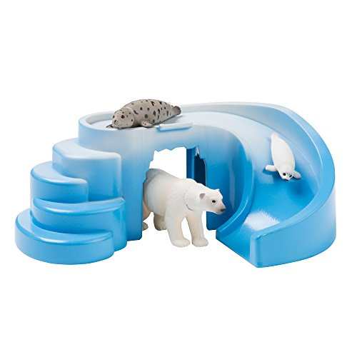 Ania Arctic Adventure - Includes Polar Bear, Mummy and Baby Seal and Iceberg Slide - Collectable Animal Figures and Playset - Suitable From 3 Years