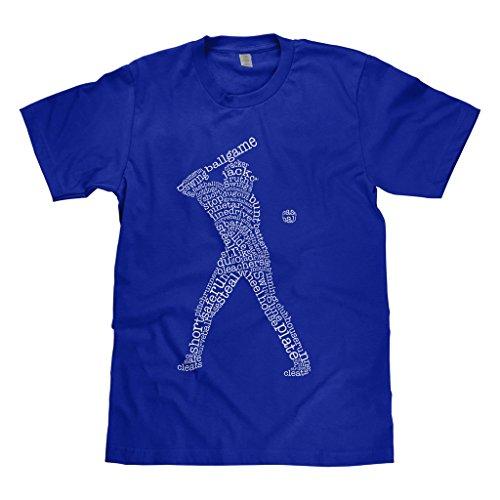 Mixtbrand Big Boys' Baseball Player Typography Youth T-Shirt L Royal