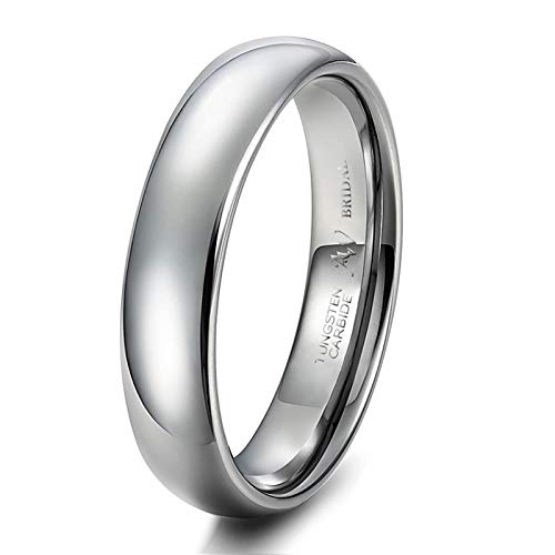AW BRIDAL Anillo Hombre/Mujer en Plata, 5 mm, Ajuste Cómodo, Banda de Anillo para Asociación Matrimonial, Tamaño22