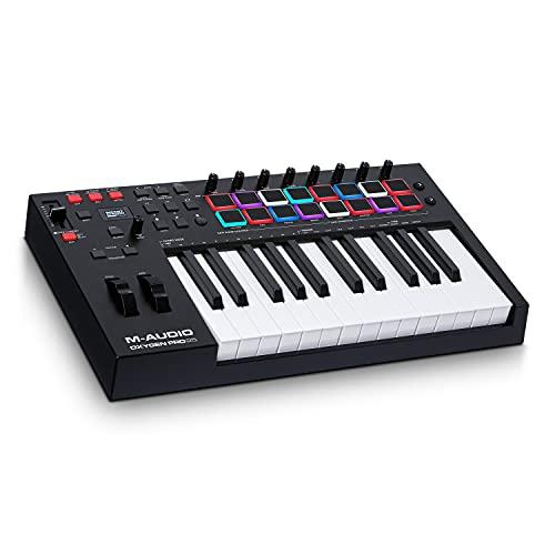 M-Audio Oxygen Pro 25 - Teclado controlador MIDI USB de 25 teclas con...