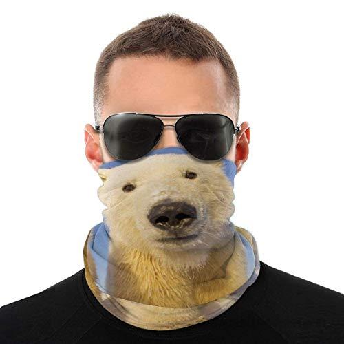 Nother Lindo oso polar divertido disfraz de animal bufanda cara cara lavable antipolvo, pasamontaas, pauelo para el cuello, pauelo para la cabeza