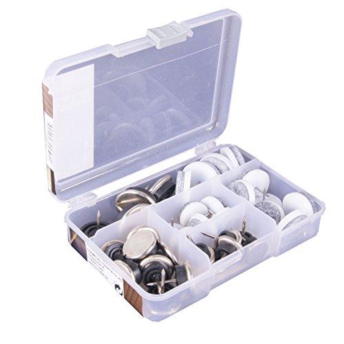 Connex Sortiment Filzgleiter mit Stift zum einnageln, 34-teilig, DY200811