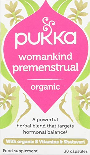 Pukka Herbs Womankind Premenstrual, Organic Herbal Supplement, Pack of 30 Capsules