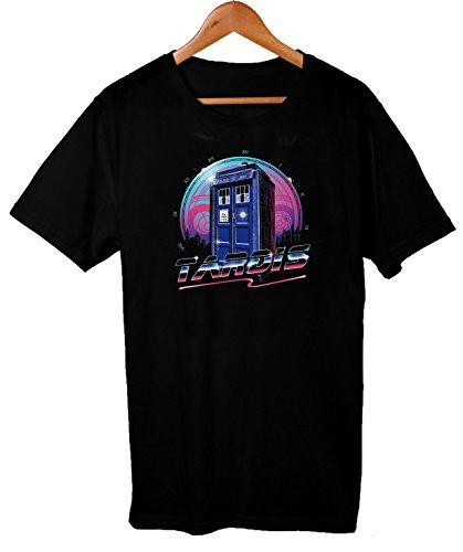 80s Style Tardis Graphic T-shirt for Men, S to 5XL