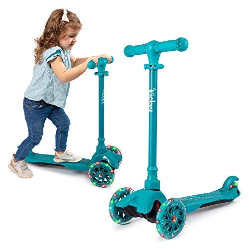 KicksyWheels Scooters for Kids - 3 Wheel...