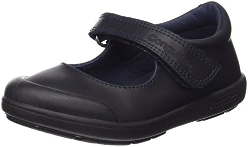 Conguitos Merceditas Colegial Lavable Velcro, Niña, Azul (Marino 2), 25 EU