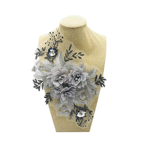 Vosarea Parche flores bordado costura flor encaje