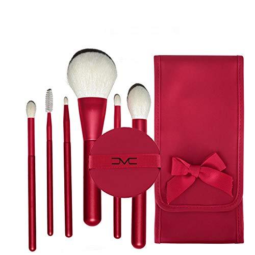 Pinceau de maquillage Set De 6 Professionnels Liquid Foundation Eyeshadow Eyeliner Lip Gloss Makeup Cosmetics Set Convient Aux Professionnels Et À L'utilisation Quotidienne