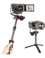 Ulanzi MT-43 三脚 カメラ 一眼レフ カーボン三脚 炭素繊維ミニ三脚 コンパクト ポータブル トラベル三脚 逆折りたたみ 自由雲台セット 脚可変 低重心自由雲台 3WAY雲台 ミラーレス一眼 運動会 旅行 アルカスイス互換 iPhone 12 Pro Max XS Max X 8 7 Samsung Canon Nikon Sonyなどのカメラスマホ/デジタルカメラ対応