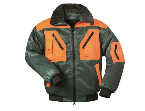 Norway-Pilotjacke 4-in-1 Arbeitsjacke XXXXL, forstgrün/orange