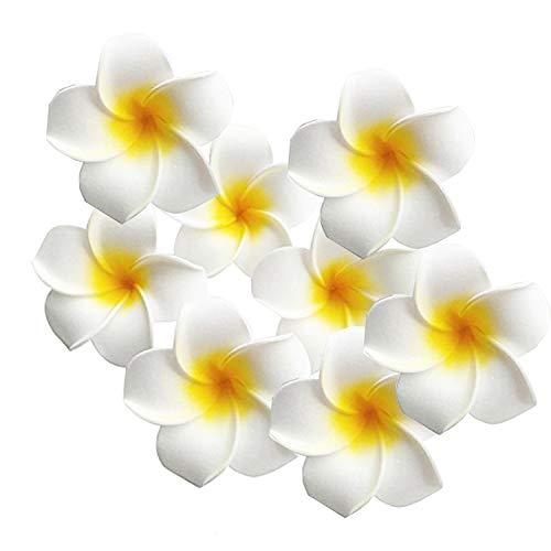 Runaup 10 pezzi hawaiano plumeria schiuma fiore clip di capelli per la festa nuziale spiaggia copricapo capelli anello accessorio decorazione domestica