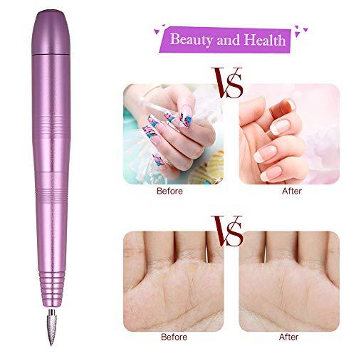 Trapano Elettrico per Unghie,Accessori per Manicure,Fresa Unghie Elettrica,Manicure Fresa per Unghie,Set elettrico di manicure per Unghie 11 accessori per la cura delle unghie