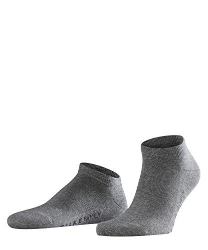 FALKE Herren Sneakersocken Family - 94% Baumwolle, 1 Paar, Grau (Light Grey Melange 3390), Größe: 39-42