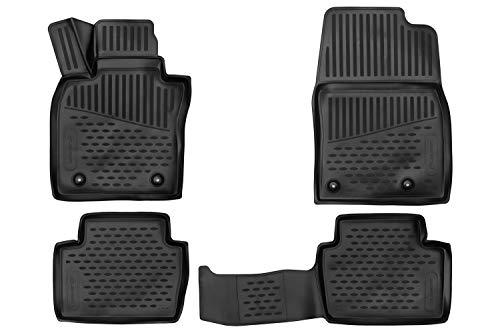3D Alfombrillas Interior de Coche a Medida TPE Mazda 3, 2019-, Hatchback/Sedan, 4 pcs.